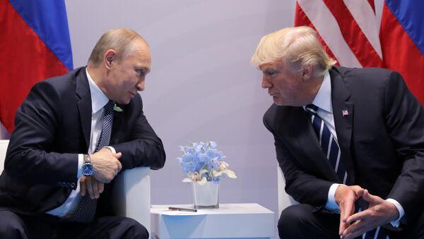 Donald Trump - Vladimir Putin / 2017 G20 - Sputnik Türkiye