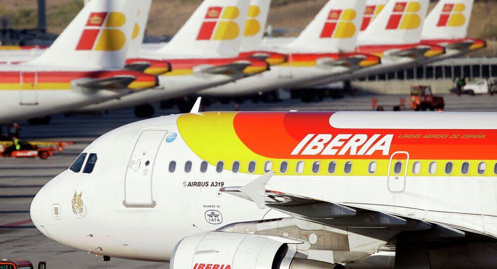 İberya uçağı, Barajas Havalimanı -  Kasım 12, 2009 Madrid