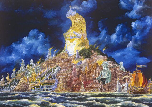 Vladimir Smirnov'un çizdiği 'Atlantis' (1979)