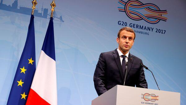 Fransa Cumhurbaşkanı Emmanuel Macron, G20 Zirvesi'nde - Sputnik Türkiye