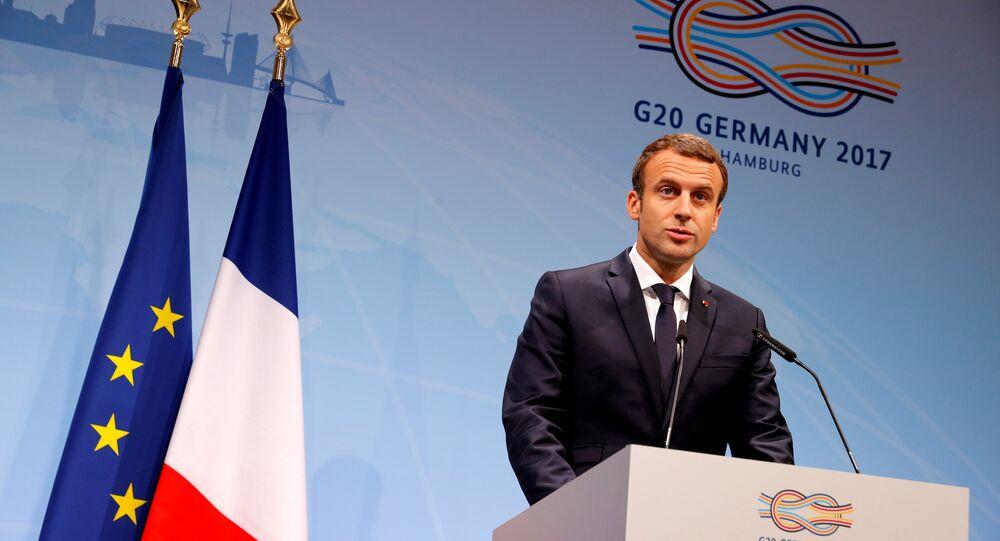 Fransa Cumhurbaşkanı Emmanuel Macron, G20 Zirvesi'nde