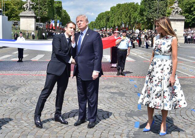ABD Başkanı Donald Trump, Fransa Cumhurbaşkanı Emmanuel Macron