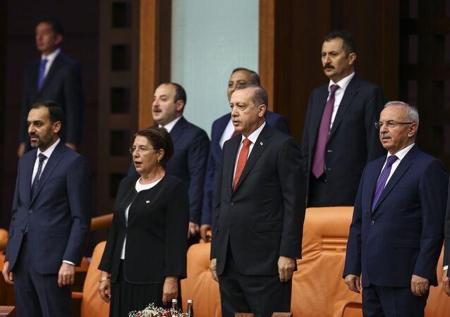 TBMM 15 Temmuz özel oturumu - Cumhurbaşkanı ve AK Parti Genel Başkanı Recep Tayyip Erdoğan