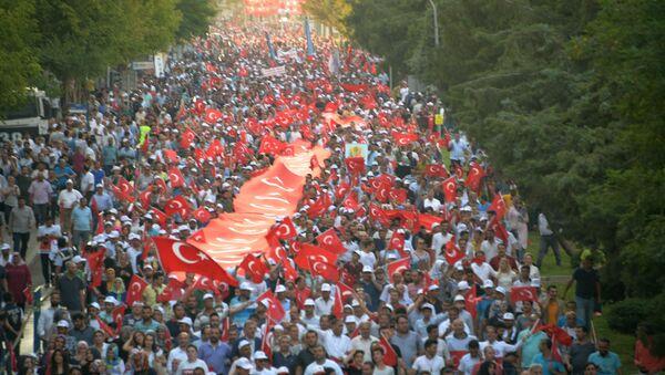 Diyarbakır'daki 'Milli Birlik Yürüyüşü' - Sputnik Türkiye