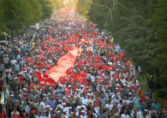 Diyarbakır'daki 'Milli Birlik Yürüyüşü'