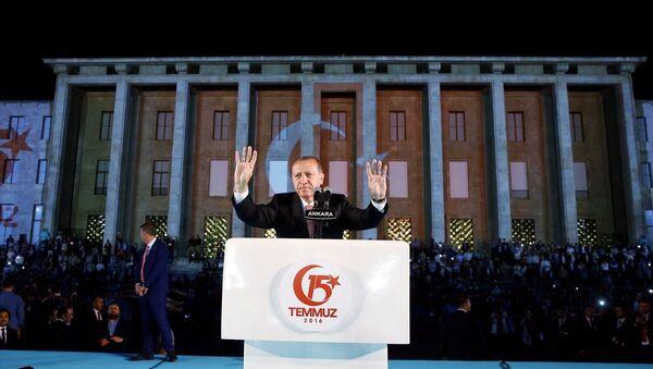 15 Temmuz'un 1. yıldönümü - Recep Tayyip Erdoğan - Ankara - Sputnik Türkiye