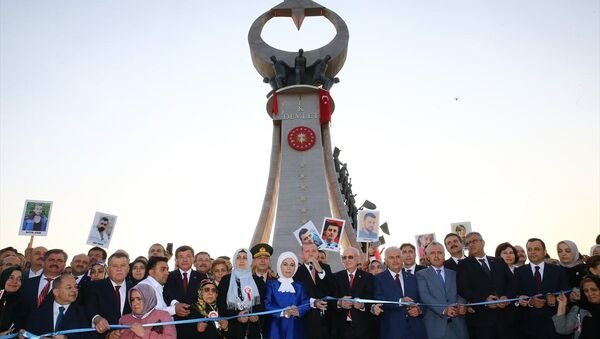 Cumhurbaşkanı Recep Tayyip Erdoğan, 15 Temmuz Şehitler Abidesi açılış töreni - Sputnik Türkiye