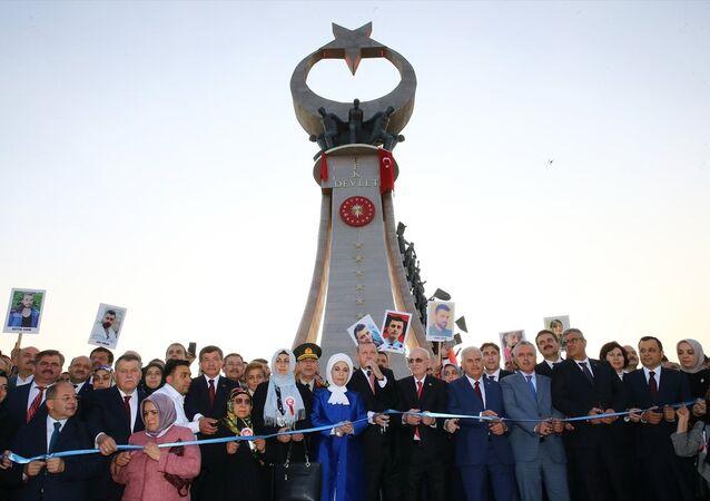 Cumhurbaşkanı Recep Tayyip Erdoğan, 15 Temmuz Şehitler Abidesi açılış töreni