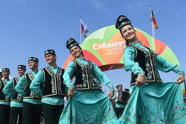 Kazan'da Sabantuy kutlamaları - Sputnik Türkiye