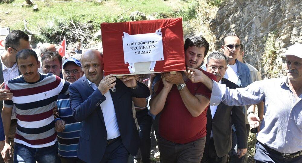 Tunceli'de ölüdürülen öğretmen Necmettin Yılmaz