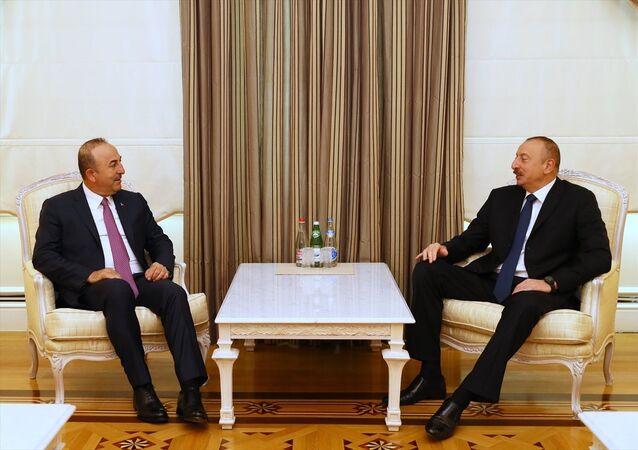 Mevlüt Çavuşoğlu - İlham Aliyev