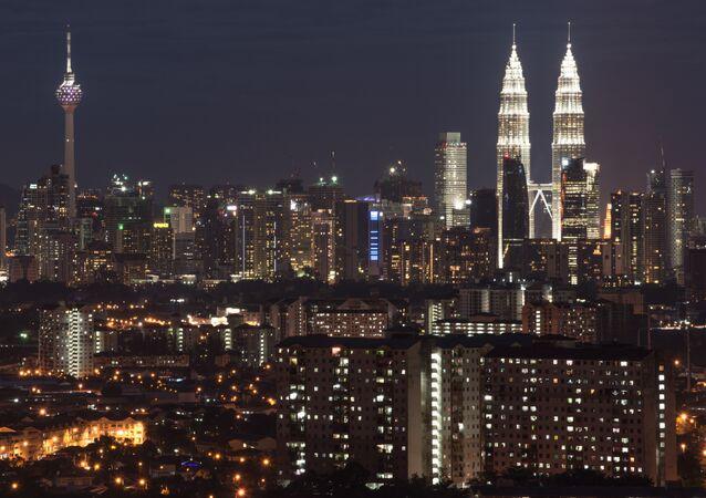 Başkent Kuala Lumpur panaromik görünüm, Malezya