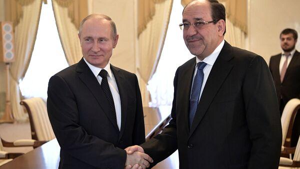 Rusya Devlet Başkaın Vladimir Putin, Rusya ile Irak'ın askeri teknik alanda işbirliğine aktif şekilde devam ettiğini söyledi. 07.2017 - Sputnik Türkiye