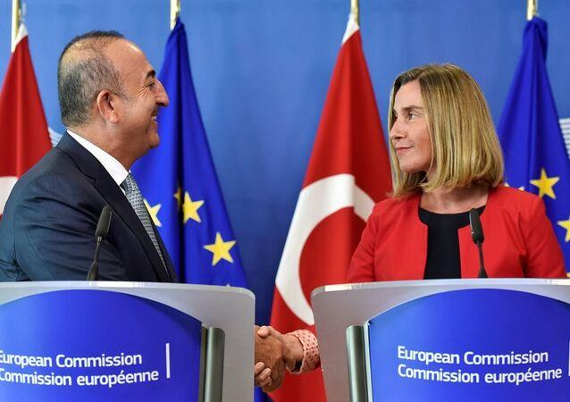 Dışişleri Bakanı Mevlüt Çavuşoğlu ve AB Dış İlişkiler ve Güvenlik Politikası Yüksek Temsilcisi Federica Mogherini