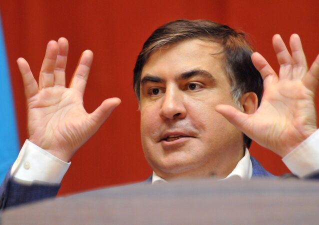Eski Gürcistan Başbakanı ve eski Odessa Valisi Mihail Saakaşvili