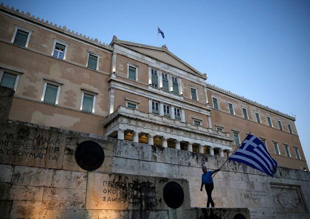 Yunanistan parlamentosu / Yunan bayrağı