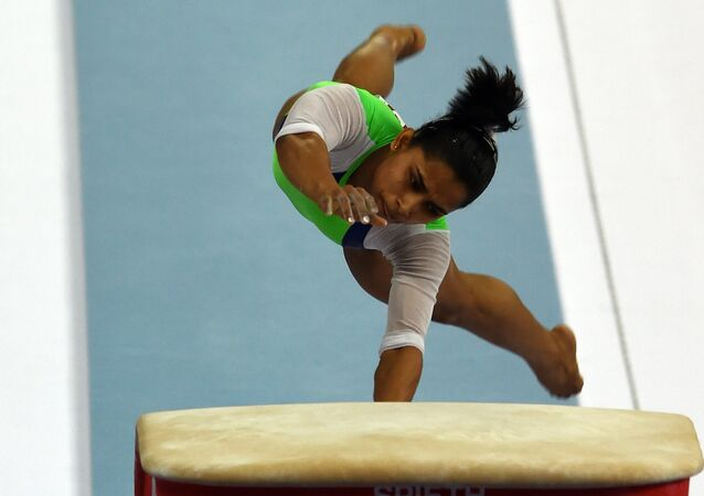 India's Dipa Karmakar performs on the vault at the Namdong Gymnasium during the artistic gymnastics women's qualification and team final of the 2014 Asian Games in Incheon. (File)