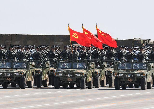 Çin Halk Kurtuluş Ordusu'nun 90. kuruluş yıl dönümü kutlama etkinliği