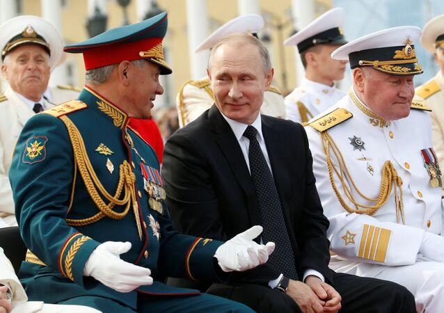 Rusya Devlet Başkanı Vladimir Putin, Rusya Savunma Bakanı Sergey Şoygu, Rusya Donanması Günü