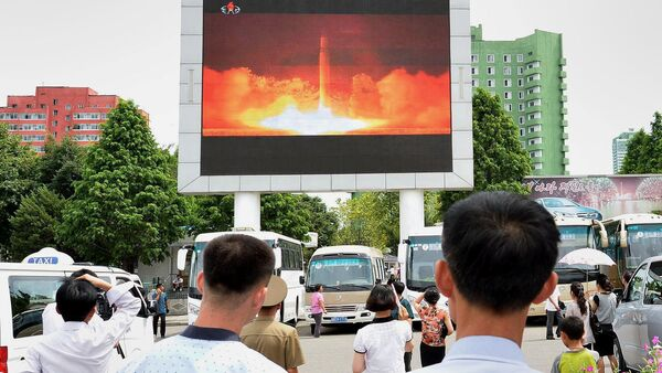 Kuzey Kore-balistik füze denemesi - Sputnik Türkiye
