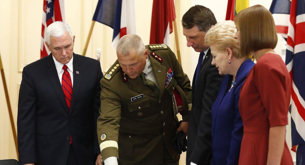 Riho Terras - Mike Pence - Raimonds Vejonis - Dalia Grybauskaite - Kersti Kaljulaid