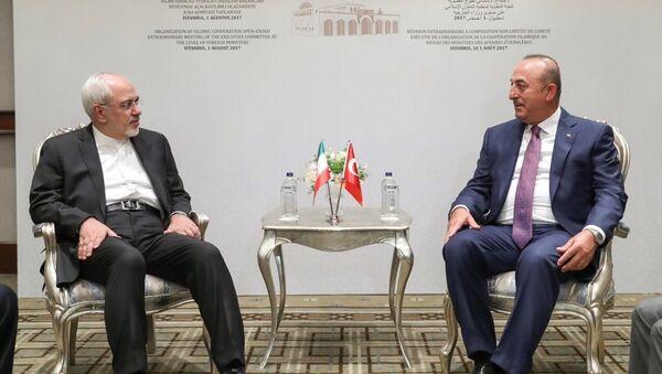 Dışişleri Bakanı Mevlüt Çavuşoğlu - İran Dışişleri Bakanı Cevad Zarif - Sputnik Türkiye
