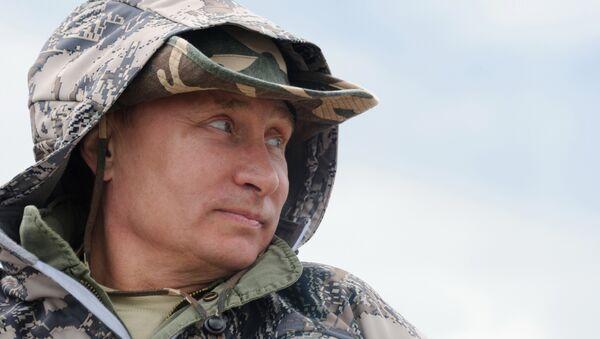 Putin balık tutarken - Sputnik Türkiye