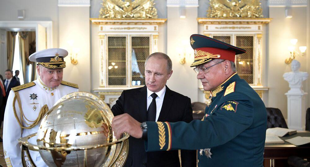 Vladimir Putin - Sergey Şoygu - Vladimir Korolev / Dünya küresi