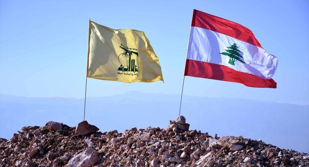 Hizbullah- Lübnan bayrakları