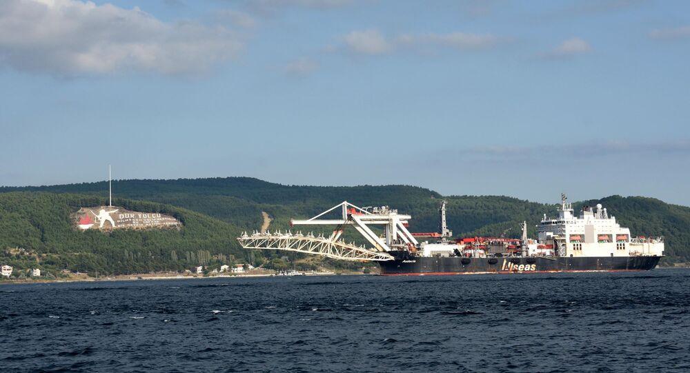 Audacia' adlı boru hattı döşeme gemisi- Türk Akımı