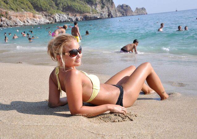 Rus turist-Antalya