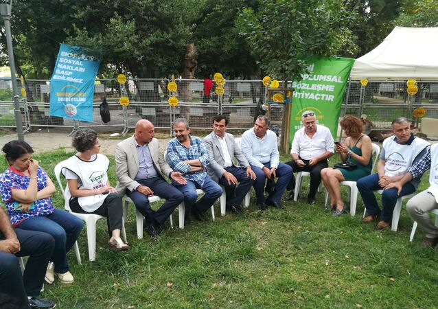 CHP'den HDP'nin nöbetine destek