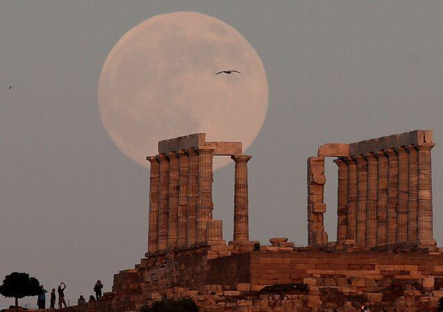 Yunanistan'daki Poseidon tapınağı
