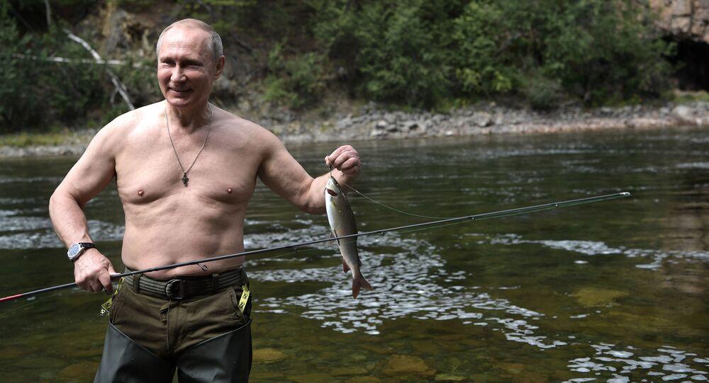 Rusya Devlet Başkanı Vladimir Putin, Sibirya'da tatilde