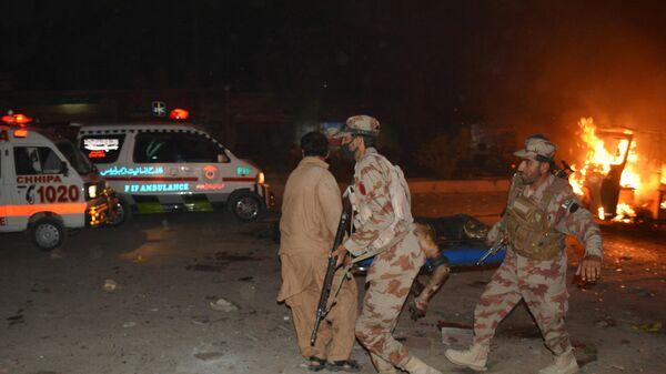 Pakistan'ın Ketta şehrinde gerçekleşen bombalı saldırı - Sputnik Türkiye