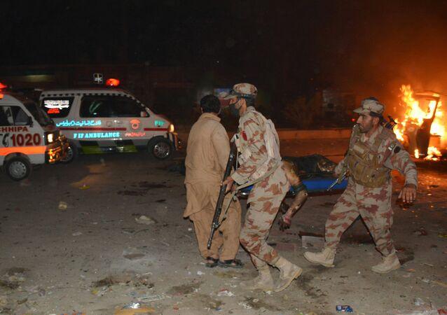 Pakistan'ın Ketta şehrinde gerçekleşen bombalı saldırı