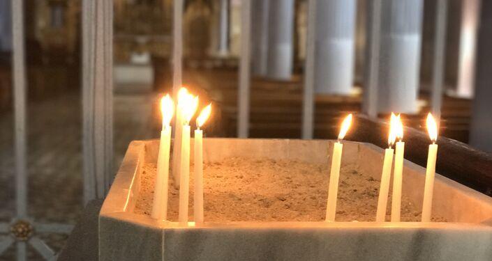 İstanbul Kumkapı'da bulunan Meryem Ana Kilisesi'nden görüntü.