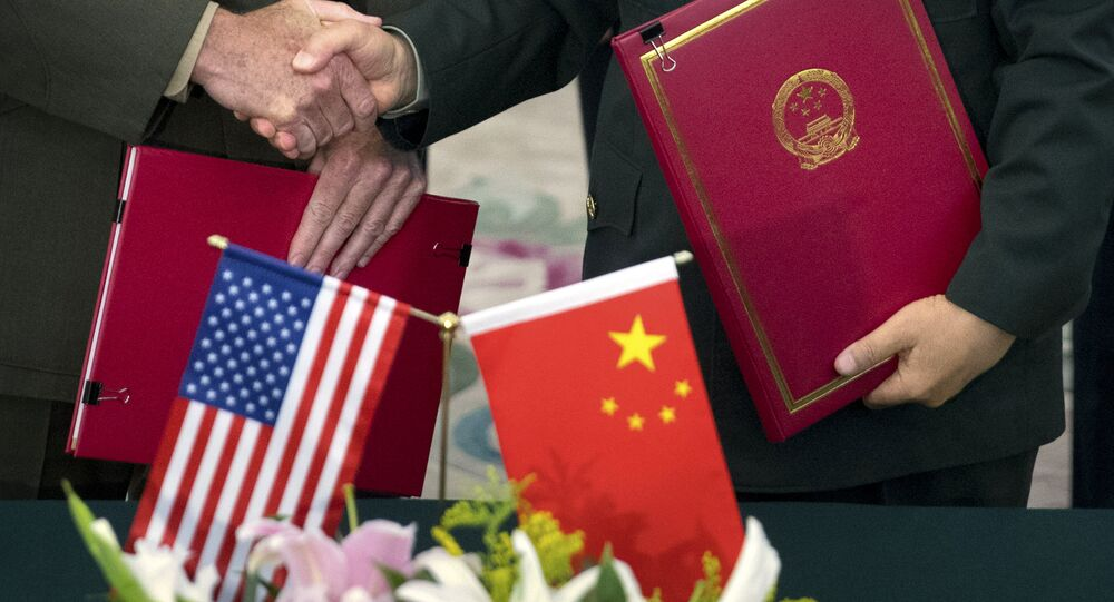Çin- ABD- Bayrak
