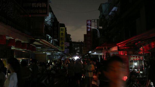 Tayvan'da elektrik kesintisi - Sputnik Türkiye