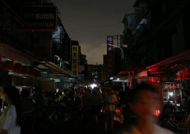 Tayvan'da elektrik kesintisi