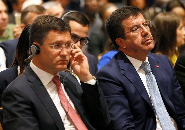Türkiye Ekonomi Bakanı Nihat Zeybekci - Rusya Enerji Bakanı Aleksandr Novak
