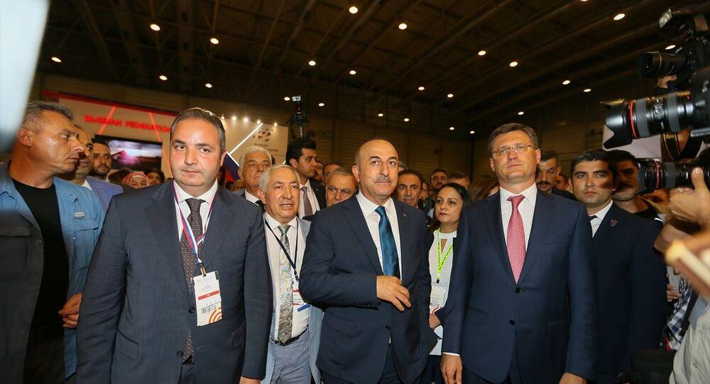 Dışişleri Bakanı Mevlüt Çavuşoğlu, Bilim, Sanayi ve Teknoloji Bakanı Faruk Özlü ve Rusya Federasyonu Enerji Bakanı Aleksandr Novak