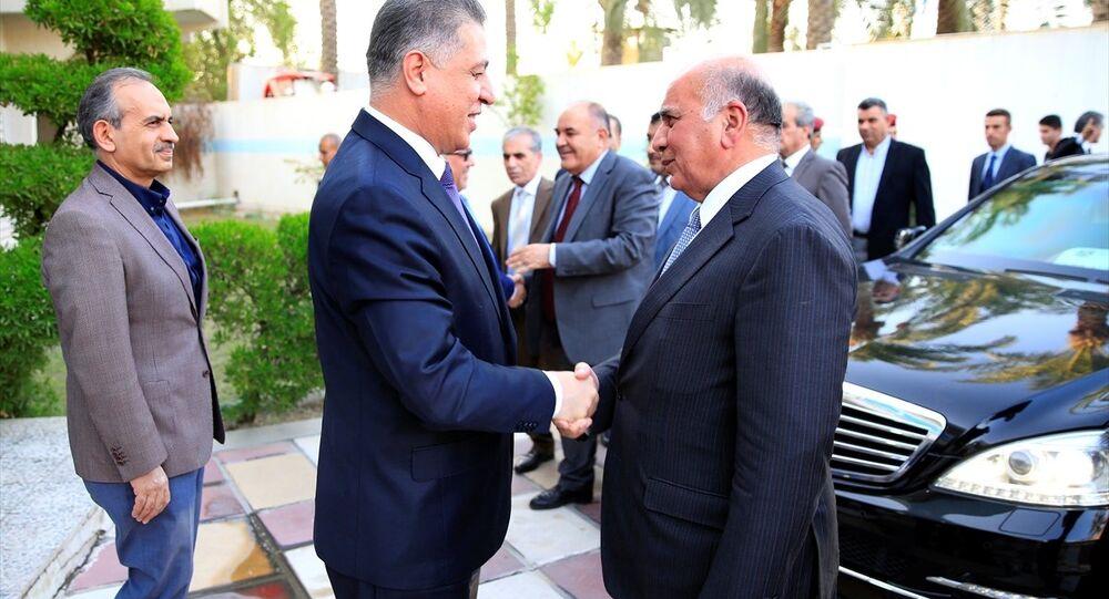 Irak Kürt Bölgesel Yönetimi (IKBY) Yüksek Referandum Heyeti, başkent Bağdat'ta Irak Türkmen Cephesi'ni (ITC) ziyaret ederek, referandumu ele aldı. Heyeti, ITC Başkanı Erşet Salihi (ortada) ve diğer parti yetkilileri Bağdat'taki parti merkezinde karşıladı.