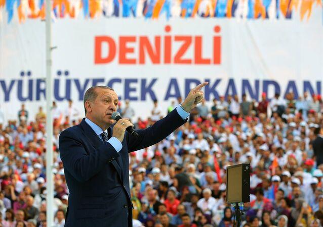 Cumhurbaşkanı ve AK Parti Genel Başkanı Recep Tayyip Erdoğan, partisinin Denizli İl Başkanlığı Genişletilmiş İl Danışma Meclisi Toplantısı'na katıldı.