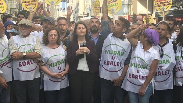 Vicdan ve Adalet Nöbeti - HDP - İzmir - Sputnik Türkiye