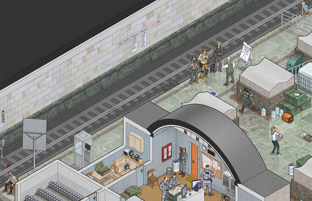 Rus illüstratör Max Degtyarev, yaptığı ilüstrasyonlarla olası bir zombi istilasında Moskova Metrosu'nun harika bir sığınak olabileceğini gözler önüne serdi.