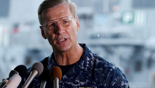 Görevden alınan  ABD Donanması 7.Filo Komutanı Koramiral Joseph Aucoin - Sputnik Türkiye
