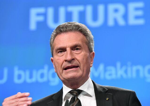 AB Komisyonu yetkilisi Günther Oettinger