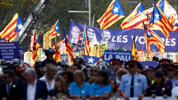 Barcelona'da teröre karşı Korkmuyorum gösterisi - Sputnik Türkiye