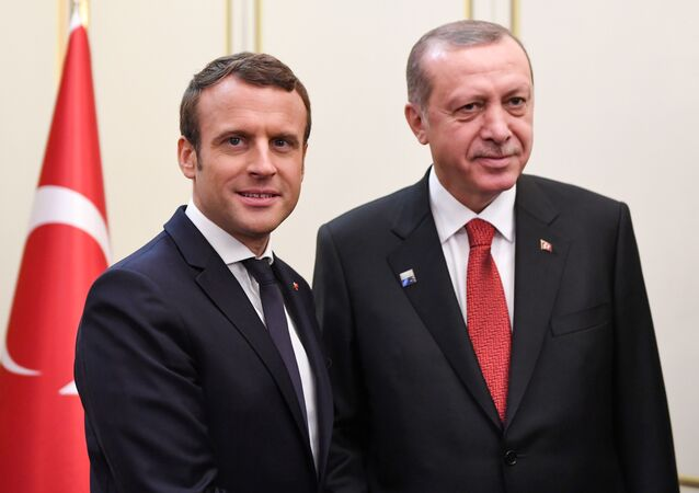 Fransa Cumhurbaşkanı Emmanuel Macron - Cumhurbaşkanı Recep Tayyip Erdoğan